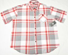 $50 NWT Mens Ecko Unltd Button Down Shirt Eclipse Plaid Oxford Woven 3XB 3X N738