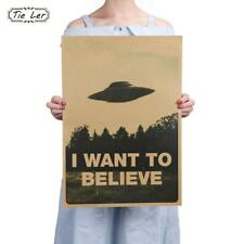 I Want To Believe Vintage Classic Movie The Poster Bar Home Decor Kraft