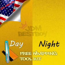 """*12""""x48"""" Reflective Yellow Vinyl Wrap Sticker Decal Graphic Sign Adhesive Film"""