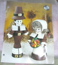 Craft Pattern Thanksgiving Pilgrim Figures, Clay Pots, Annies Special Occasions