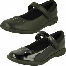 Girls Clarks Star Detailed School Shoes - Etch Bright