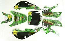 ROCK$TAR METAL MULISHA GRAPHICS DECAL KIT KAWASAKI KLX110 KLX 110 KX 65 NEW Z262