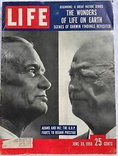 LIFE MAGAZINE Jun 30 1958 * DeGaulle * Eisenhower * Charles Darwin * London