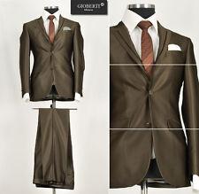 *219* OUTLET-SALE - 3-teiliger Marken Herrenanzug Designer Anzug in Braun Gr.46