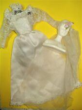 Vtg Barbie 80s Superstar Doll Clothes Wedding Tracy Dress & Veil Set 1983