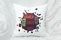 Gamer Girl Rule Gift, Pillow Cushion Gift For Girl Women Mother Girlfriend Game