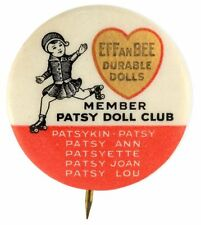 """""""EFFANBEE DURABLE DOLLS - MEMBER PATSY DOLL CLUB CLASSIC 1930s BUTTON."""""""