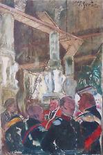 Rare et Grand Tableau de Pierre Gerber (1887-1955 ?) Vers 1920 Expo universelle