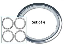 """Wheel Trim Ring 15"""" Set of 4 Chrome Plated Metal Band Dress Ring suit Steel Rims"""