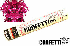 12 pack  CONFETTI SKY pink Mylar GENDER REVEAL cannon baby shower party popper