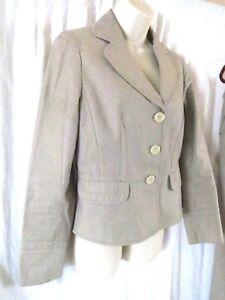 Ann Taylor Loft Pant Suit Jacket 6 Pants 2 Stripes Wear to Work