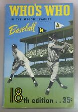 1950 Who's Who in the Major Leauges Baseball Carmichael 18th Edition