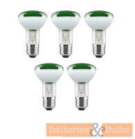 40w E27 ES Screw Cap R63 Green Reflector Spot Light Bulbs 240v | Pack of 5