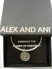 Alex and Ani INITIAL L Expandable Wire Bracelet Rafaelian Silver NWTBC