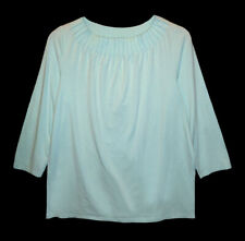 Talbots, Aqua Pullover Stretch Top with 3/4 Sleeves, size X - 14W