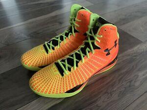 Under Armour UA Clutchfit Drive Micro G Orange Blaze Stephen Curry Men's 13 NBA