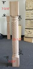 spiral leg post solid wood pilar baluster columns unfinish chimeny baluster carv