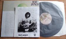 BERT JANSCH SANTA BARABARA HONEYMOON LP 75 UK CHARISMA + PROMO PHOTO INFO SHEET