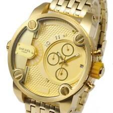 NEW DIESEL DZ7287 MEN Watch LittleDaddy Chronograph Gold Dial Stainless DZ7287