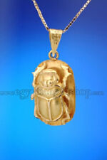 18k Gold Egyptian Scarab Pendant - Scarab Jewelry