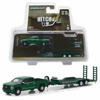 GREENLIGHT 32140B 2015 CHEVY SILVERADO & HEAVY DUTY TRAILER DIECAST MODELS 1:64