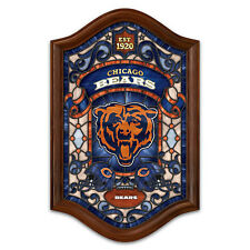 Chicago Bears Illuminated Stained-Glass Wall Decor
