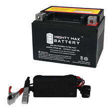 Mighty Max Ytx4L-Bs Battery for Scooter Sym Dd 50Cc 09 + 12V 1Amp Charger