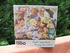 Stylish Teddy Bears 1500 Piece Springbok Jigsaw Puzzle~New & Factory Sealed!