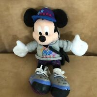Mickey Mouse Disney World 2004 bean bag Plush hoodie pin trading bag