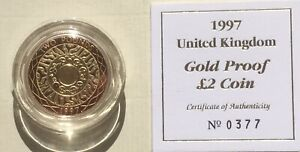 Proof gold £2, 1997.