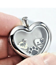 Angel Dachshund Heart Memory Locket Necklace, Doxie Keepsake Jewelry,