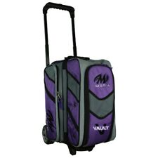 Motiv Vault 2 Ball Deluxe Roller Bowling Bag with 5 inch Urethane Wheels Purple