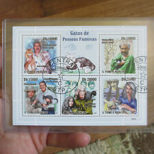 FRANK ZAPPA FREDDIE MERCURY JOHN YOKO 2009 'Cats of Famous People' Stamp Sheet