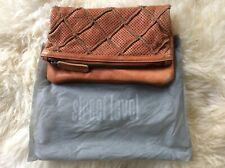 ANTHROPOLOGIE Foldover Leather Clutch Bag