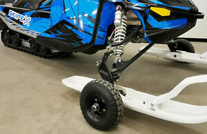 SKIPEX Snowmobile Ski Wheels, Drivable Snowmobile Dolly, Snowmobile transfer kit