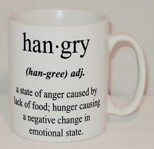 Hangry Definition Funny Joke Gift Mug Can Personalise Real Meaning Hungry Angry