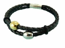 Leather Bracelet Stainless Steel Magnetic Clasp 4MM Premium Quality Range LB63