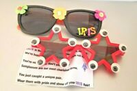 2 Mardi Gras Carnival Sun Glasses from the Krewe Iris Parade 2019 New Orleans