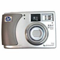 HP Photosmart 733 3.2 MP 3x Optical Digital Zoom Camera Silver - Works!