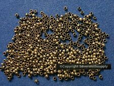 500 Crimps antique bronze plated 2x1.5mm round crimp beads bead findings fps096