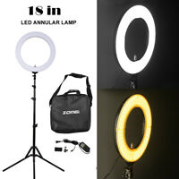 SMD LED Ring Light Dimmable 5500K Continuous Lighting Makeup Photo Video Kit OG9