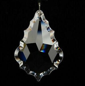 NEU Ahornblattform K9 Klare Kristallglasprismen Kronleuchter Kristalllampenteile