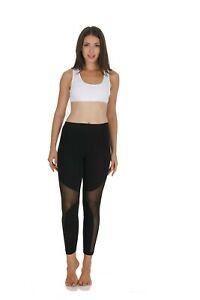 Womens Ladies Gym Leggings Yoga Fitness Mesh Pants Athletic Workout Leggings