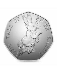 THE TALE OF PETER RABBIT 50P COIN 2017 FIFTY PENCE BEATRIX POTTER RARE (ref 27)