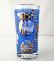 APOLLO 11 Moon Landing Glass Tumbler Commemorative Vintage 1969 Collectible 5.5""