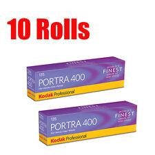 10 Rolls Kodak Portra 400 35mm 135-36 Professional Print Film Fresh 08/2019