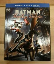 NEW DC Batman and Harley Quinn (Blu-ray & DVD, 2017) w/ Embossed Slip Cover J4