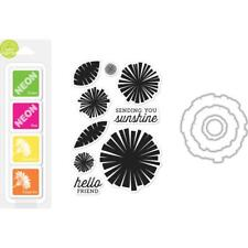 """Hero Arts """"GRAPHIC FLOWERS"""" Clear Stamps + Frame Cuts Dies + Mini Ink Pad Set"""