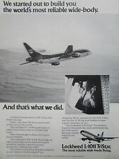 2/1976 PUB AVION LOCKHEED L-1011 TRISTAR AIRLINER PILOT AIRLINES ORIGINAL AD
