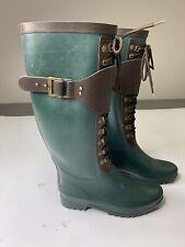 UGG AUSTRALIA 3456 Women's US Size 7 Green Rubber Boots Madelynn